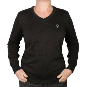 Dames Pullover V-neck Maywood Anthracite