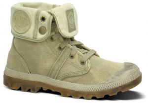 Palladium Veterschoen Pallabrouse Baggy Dk Khaki/putty Groen