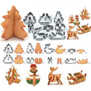 Hoard 8PCS 3D Christmas Scenario Cookie Cutter Mold Set Stainles
