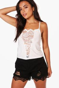 Petite Renee Lace Panel V Front Cami