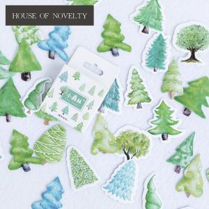 Creative Little Forest Trees Decorative Stickers Adhesive DIY De