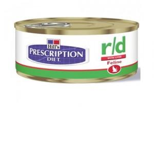 Hill Prescription Diet R/D Blik 156 Gr Kattenvoer 1 Tray 24 Blik
