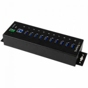 StarTech.com 10 Port Industrial USB 3.0 Hub - ESD And Surge Prot