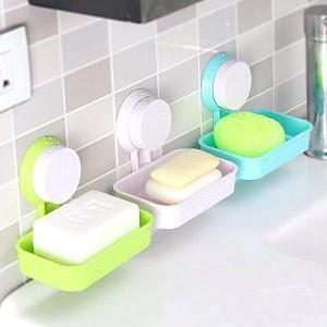 Candy Color Bath Soap Dish Toilet Holder Tray Storage Box With S