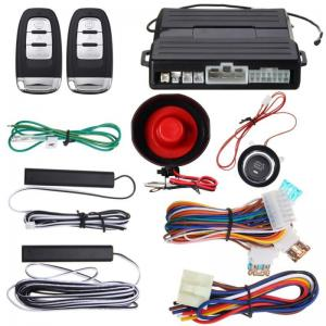 Hopping Code PKE Car Alarm System W Keyless Entry Remote Start P