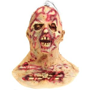 Halloween Scary Infected Zombie Adult Mask Melting Face Latex Ho
