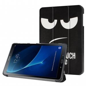 3-Vouw Don Touch Stand Flip Hoes Samsung Galaxy Tab A 10.1 Inch