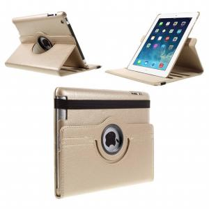 Stand Flip Sleepcover Hoes - IPad 2 / 3 4 Goud
