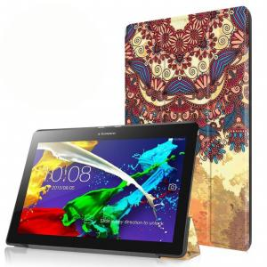 3-Vouw Vintage Bloem Stand Flip Hoes Lenovo Tab 2 A10-30