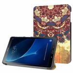3-Vouw Vintage Bloem Stand Flip Hoes Samsung Galaxy Tab A 10.1 I