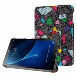3-Vouw Abstract Patroon Stand Flip Hoes Samsung Galaxy Tab A 10.