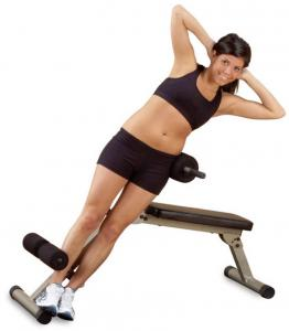 Body-Solid Best Fitness Ab Board Hyperextension - Rood (0638448001398)