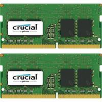 Crucial 16GB Kit DDR4 2400 8GBx2 SODIMM 260p DR X8 Single