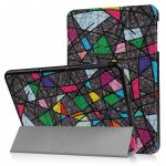 3-Vouw Abstract Patroon Stand Flip Hoes Samsung Galaxy Tab S3 9.