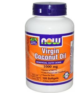 Virgin Coconut Oil 1000 Mg 120 Softgels - Now Foods