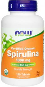 Certified Organic Spirulina 1000 Mg 120 Tablets - Now Foods