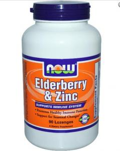 Elderberry & Zinc 90 Lozenges - Now Foods