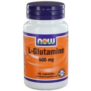 L-Glutamine 500mg Capsules NOW Foods