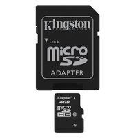 Kingston Micro SDHC Geheugenkaart 4 GB + SD Adapter Class 10