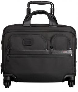 Tumi Alpha 2 Business 4-Wheeled Deluxe Brief With Laptop Case Bl