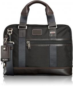 Tumi Alpha Bravo Earle Compact Brief Hickory