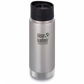 Klean Kanteen Isolatiefles Wide Vacuum Insulated 16oz 473ml Cafe
