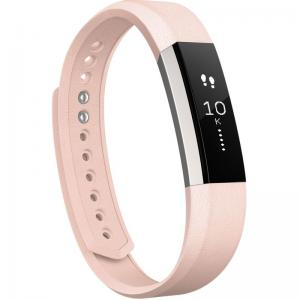Fitbit Alta Polsband S - Leer Blush Pink