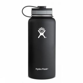 Hydro Flask Isolatiefles 32 Oz Wide Mouth - Zwart