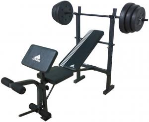 Adidas Strenght Bench Incl Rod 45kg Weight