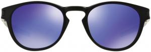 Oakley Latch Zonnebril - Matte Black/Violet Iridium