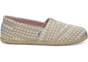 TOMS Oxford Tan Geruite Alpargatas Voor Dames Shoes - Size 36