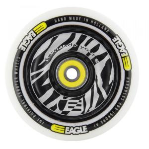 100mm Zebra Spoke / White PU - Step Wiel