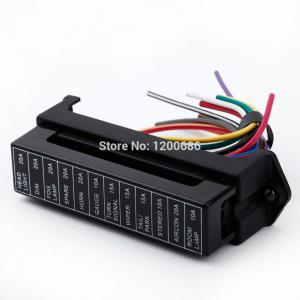 12 Way DC 12V Volt Fuse Box 24V 32V Circuit Car Trailer Auto Bla