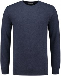 Knowledge Cotton Apparel Basic O-Neck Pullover In Total Eclipse
