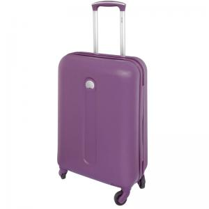Delsey Helium Classic 4 Wheel SLIM Cabin Trolley 55 Cm Purple
