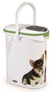 Curver Voedselcontainer Opdruk Hond Wit/groen