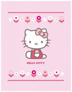 Hello Kitty Fleece Deken Hearts