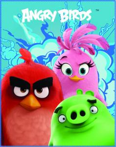 Angry Birds Plaid Explosion 110x140cm 100% Polyester