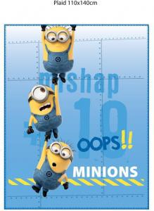 Minions Plaid At Work 110x140cm 100% Polyester