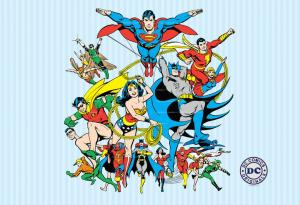 DC Comics Collage - Fotobehang 232 X 158 Cm Multi