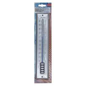 Dr.F Thermometer Metaal Wit 30cm
