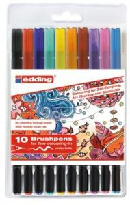 Brushpen Edding 1340 Assorti Tangle Etui 10st