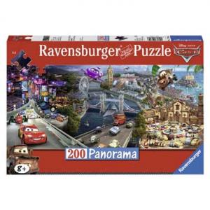Ravensburger Panorama Puzzel Cars 200st. XXL