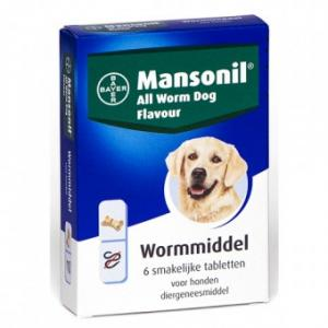 Mansonil All Worm Dog Ontworming - Hond 6 Tabletten (4007221036012)
