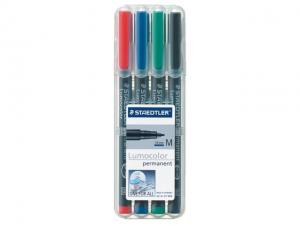 Viltstift Staedtler OHP Lumocolor M317 Assorti 4stuks Medium (4007817310380)