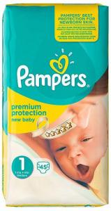 Pampers New Baby Luiers Maat 1 - 45