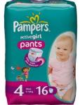 Pampers Baby Luiers - Active Girl Pants Maxi 4 16 Stuks