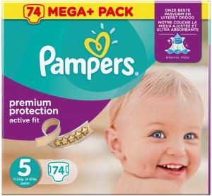 Pampers - Active Fit Maat 5 Junior Mega Pack 74 Stuks