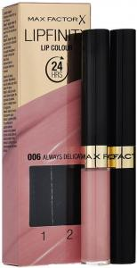 Max Factor 2Steps Lipstick - Lipfinity Always Delicate 006