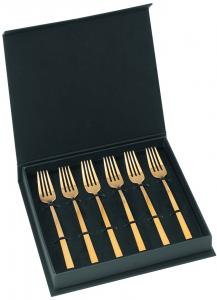 Cake Forks ASA Touch Gold Matt Set/6